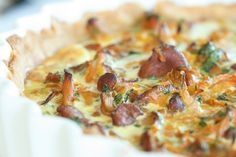 carrot and chantarelle quiche