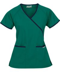 Blusa Médica Butter-Soft Scrubs por UA™ con Ribete Contrastante