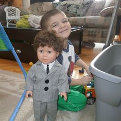 Kiersten Emmi shared this photo of her son with a great big smile, loving his new My Pal for Dressing Up!