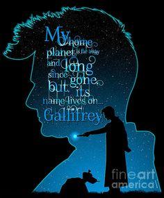 My Home Planet (Tardis Blue) Print by ©ifourdezign #DoctorWho #TenthDoctor #DavidTennant #K9 #VectorArt #FanArt #FineArtAmerica (Please retain ALL credit - TY)