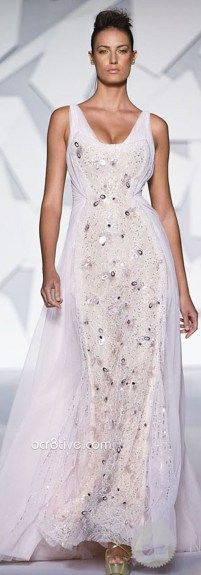 Abed Mahfouz Couture - Fall 2013 evening gowns are soft, feminine, shapely, flowing, elegant and super sexy. Abed Mahfouz, Gala Dresses, Couture Dresses, Wedding Dresses, Couture Fashion, Runway Fashion, Fashion Show, Couture Style, Chanel Cruise