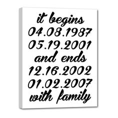 It Begins and Ends with Family Family by Geezees Custom Canvas