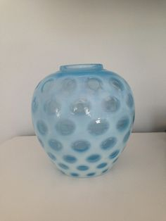 Fenton Coin Dot Vase by VintageLoveAntiques on Etsy