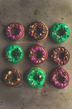 Donuts con cobertura y M&M´s - Bake-Street.com