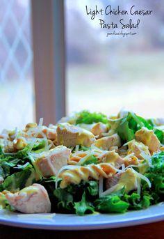 Jo and Sue: Light Chicken Caesar Pasta Salad