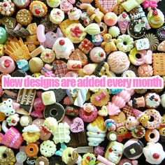 Sweets Deco Kawaii Cabochon Mix Assorted Decoden Sweets Miniature Sweets Cabochon Set Polymer Clay Sweets Cellphone Deco (50 PCS BY RANDOM). $19.95, via Etsy.