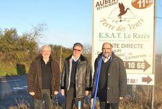 20/02/14. Nailloux. Aménagement de l'accès à l'E.S.A.T. du Razès. LIRE http://www.ladepeche.fr/article/2014/02/20/1822205-nailloux-amenagement-acces-e-razes.html