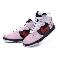 sports shoes 14ad9 8d6b3 nike High Tops Women  Discount Nike Dunk High Tops Black Pink Tree Flowers  Patterns Women .