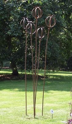Forged Iron Garden Or Yard Sculpture By Artist Adrian Payne Titled: U0027Seed  Head (Giant Iron Metal Garden Plant Sculptures)u0027 | WildFlower Shop |  Pinterest ...
