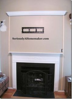 hiding tv cords in trim step 1 - DIY Tv Wall, Hide Tv Cords, Basement Remodeling, Hide Cords, Tv Above Fireplace, Tv, Fireplace, Faux Fireplace, Trim Work