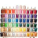 one of the best embroidery threads that i found - 63 Spool Polyester Embroidery Machine Thread