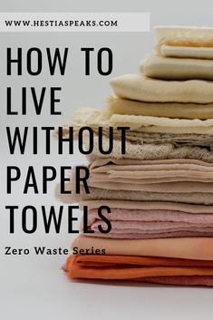 Many of us were raised to believe that paper towels are a necessity. What I love about the zero-waste movement is that it calls out the unnecessary and excessive consumerism-for-the-sake-of-consumerism that most of us were raised with. Plastik Recycling, Organize Life, Waste Reduction, No Waste, Reduce Waste, Eco Friendly House, Reuse Recycle, Upcycle, Natural Cleaning Products