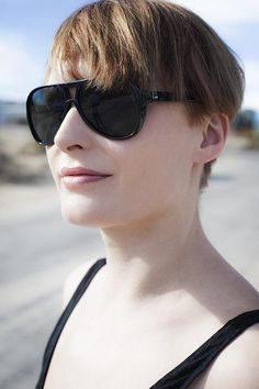645aad2fc21b0 Black Acetate True Vintage Glass Lens Unisex Aviator Sunglass Made in - Sunglass  Museum Black Aviators