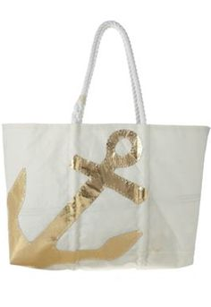 great #gold anchor beach tote http://rstyle.me/n/ju999r9te