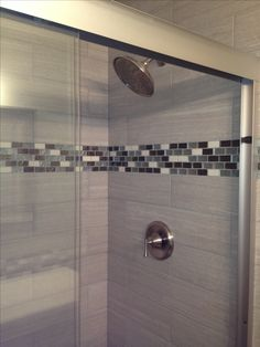 leonia silver tile for shower walls glass tile accent this is what we bought for our second bathroom except we did leonia sand