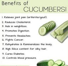 Who knew CUCUMBERS we're SO good for you!