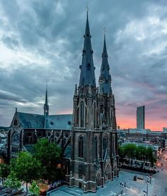 Saint Catherina Church in Eindhoven, Netherlands.  Go to www.YourTravelVideos.com or just click on photo for home videos and much more on sites like this.