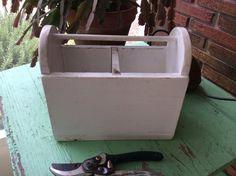 Rustic Wood Garden Tool Caddy / Trug Farmhouse Chic by TillyFritz, $21.99