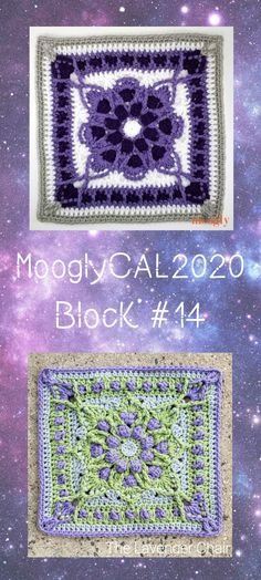 Bobbles, overlay, and tons of color - MooglyCAL2020 Block 14 is courtesy of The Lavender Chair! Join this free year-long crochet along on Moogly!  #freecrochetalong #cal #mooglycal2020 #thelavenderchair #yarnspirations #redheart #withlove