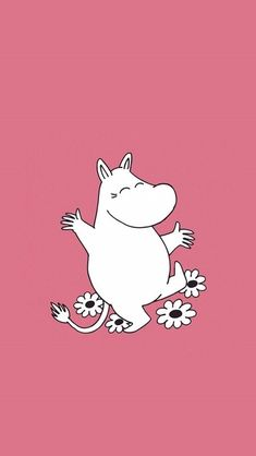 Moomin Wallpaper, Pink Wallpaper, Iphone Wallpaper, Kakao Friends, Tove Jansson, Notebook Covers, Disney Cartoons, Phone Backgrounds, Easy Drawings