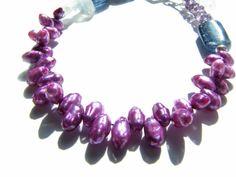 "I added ""Purple Pearls Unique Beaded Bracelet Pearl and by designsbyegs"" to an #inlinkz linkup!https://www.etsy.com/listing/167612650/purple-pearls-unique-beaded-bracelet?"