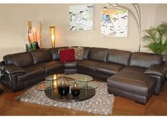 Carrera - Natuzzi Leather Sectional With Chaise at Town & Country Leather Furniture Houston