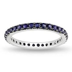 @Overstock - Round-cut blue sapphire ring14-karat white gold jewelryClick here for ring sizing guidehttp://www.overstock.com/Jewelry-Watches/14k-White-Gold-Blue-Sapphire-Eternity-Ring/6100559/product.html?CID=214117 $225.99