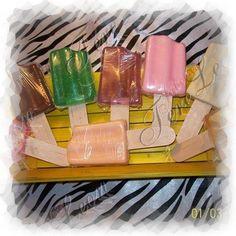 Jabones de Paleta varios colores, tamaños y aromas
