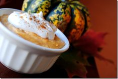 Pumpkin Pie Mousse is an easy fall dessert that tastes like a splurge, but is very light. Plus, there's no cooking or baking required!    iowagirleats.com