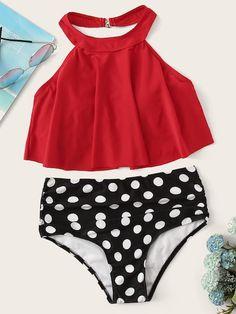83ce0db933f93 Tassel Bikini Polka Dot Bottom Bathing Suit | #SWIMSUIT SALE!!?? | Fashion,  Polka dot bikini bottoms, Swimwear