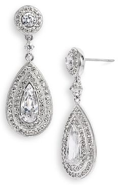 Free shipping and returns on Nadri Pear Drop Earrings at Nordstrom.com. Pear-shaped drops distinguish stunning handcrafted earrings patterned in a rich pavé of sparkling stones.
