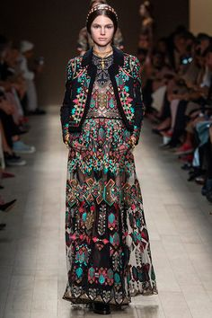Valentino / Chiuri and Piccioli's muse is no longer a girl with a pearl earring. She's a mythological sorceress.