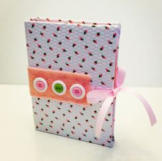 White with Pink Rosette Earring Book for Travel by TheElegantLady, $15.00