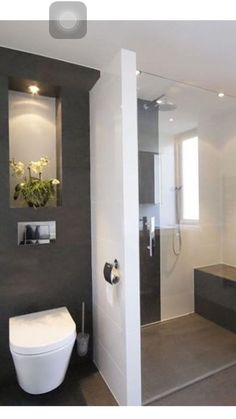 Home decor inspiration: 65 stunning contemporary bathroom design ideas that your next renovation inspired . - Home decor inspiration: 65 stunning contemporary bathroom design ideas that your next renovation in - Contemporary Bathroom Designs, Modern Bathroom Design, Simple Bathroom, Bathroom Interior, Master Bathroom, Bathroom Ideas, Contemporary Interior, Bathroom Small, Silver Bathroom