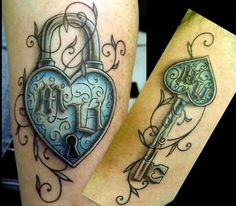 Pix For > His And Hers Lock And Key Tattoos