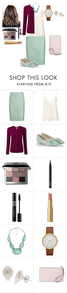 """""""Untitled #810"""" by kmmurphy ❤ liked on Polyvore featuring Armani Collezioni, Anine Bing, Pure Collection, RAS, Bobbi Brown Cosmetics, NARS Cosmetics, Christian Dior, Too Faced Cosmetics, Kim Rogers and Skagen"""