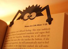 I want to make a monster bookmark like this, but eating the page.