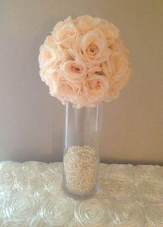 Luxury Cylonder Vase Wedding Centerpiece by KimeeKouture on Etsy