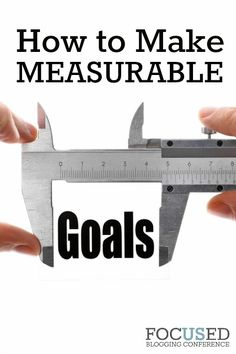 Want to learn how to make measurable goals so you can reach the goals you make? This will help you!