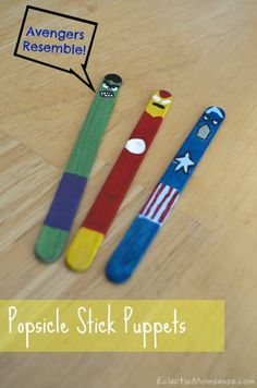 Popsicle Stick Puppets - Eclectic Momsense