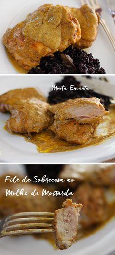 Filé de Sobrecoxa ao Molho mostarda é um clássico francês fácil de fazer, a única dica é caprichar na qualidade dos ingredientes e no ponto da carne.