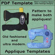 Sewing Machine Applique Templates