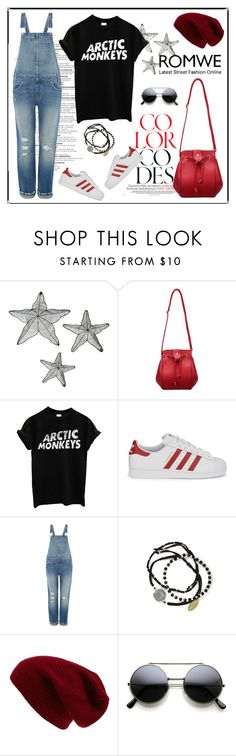 """""""Red Bag"""" by redchally ❤ liked on Polyvore featuring adidas Originals, Levi's, Feather & Stone, Sole Society, women's clothing, women's fashion, women, female, woman and misses"""