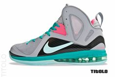 The Nike LeBron 9 PS Elite South Beach has landed overseas prior to its US  launch at Swiss retailer Titolo. 4a132201d8