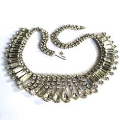 Fribble Pistol straight up vintage diamante necklace.  Hollywood glamour!