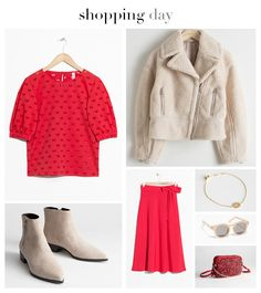 Valentine's Day Casual Date Outfit 2019 Outfit Vestido Rojo, Ankle Boots Beige, Valentines Date Ideas, Lady In Red, Polyvore, Outfits, Image, Fashion, Trench Dress