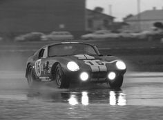 #15 Cobra Daytona Coupe had to stop twice in one lap to open his door and let the water drain out. According to him it would get up to his waist and slosh around back and forth in waves. Several drivers pitted so their crews could punch holes in the floor of the car and let water drain out. Sebring 1965