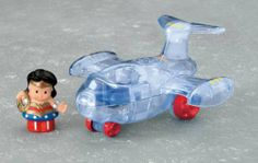 Amazon.com: Fisher-Price Little People DC Super Friends Wonder Woman Invisible Jet: Toys & Games