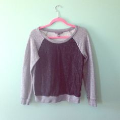 Victoria's Secret raglan lace sweatshirt Elevate your comfy look with a little bit of black lace - and keep it modern with a raglan sleeve! Super soft and like new! Victoria's Secret Tops Sweatshirts & Hoodies