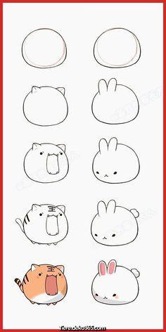 How to draw kawaii animals cute animal drawings a easy bunny drawing how to draw bunny . how to draw kawaii animals Doodles Kawaii, Cute Doodles, Simple Doodles, Cute Easy Drawings, Cute Animal Drawings, Drawing Animals, Cute Animals To Draw, How To Draw Bunny, How To Draw Tiger